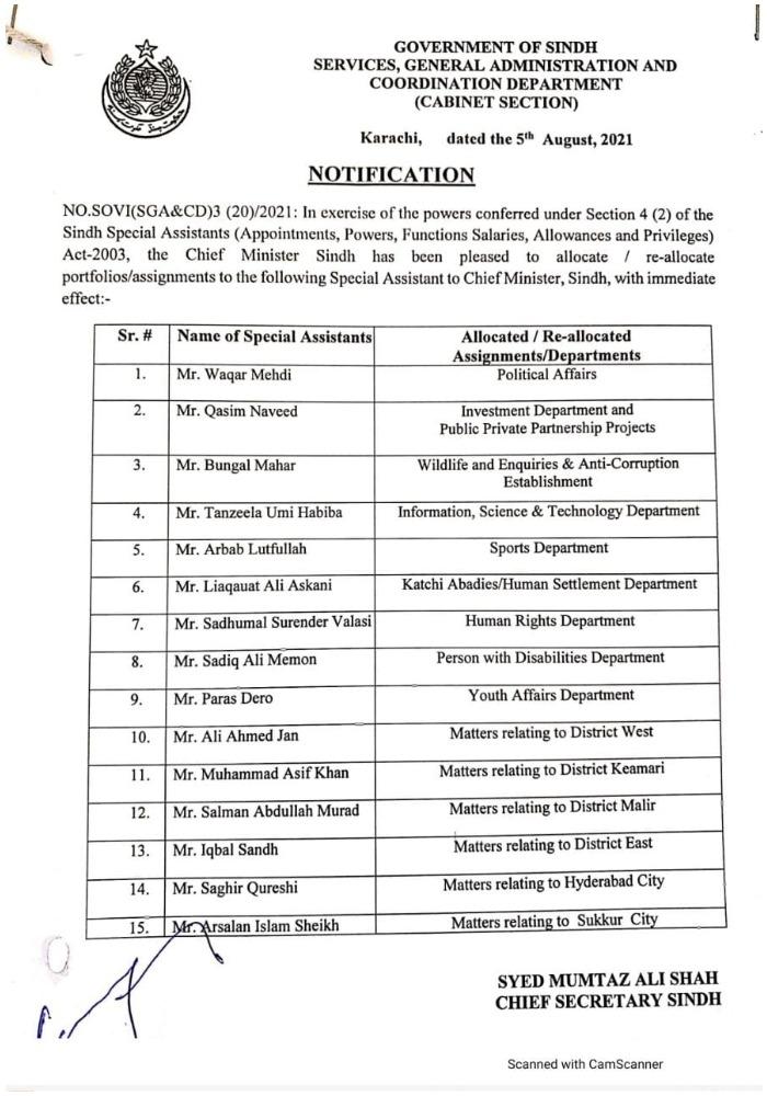 Sindh appoints Murtaza Wahab as Karachi administrator