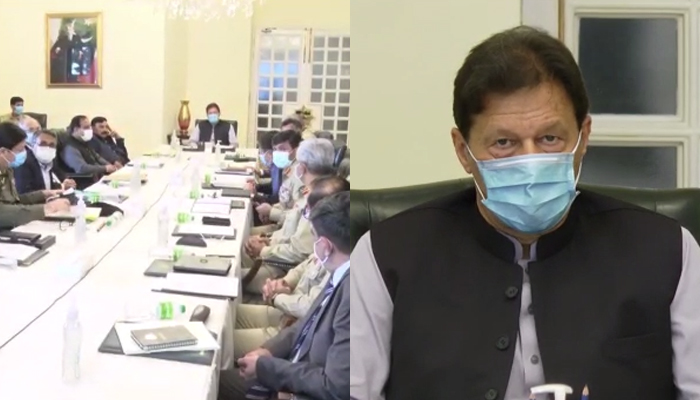 PM Imran Khan chairs a high-level meeting in Islamabad, on August 5, 2021. — PM Office