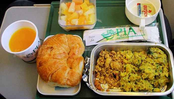 A meal served by PIA is seen in this PIA file photo.