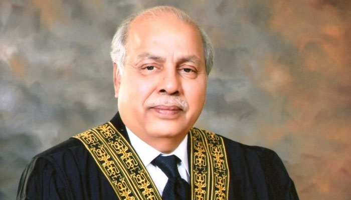 Chief Justice of Pakistan Gulzar Ahmed. File photo