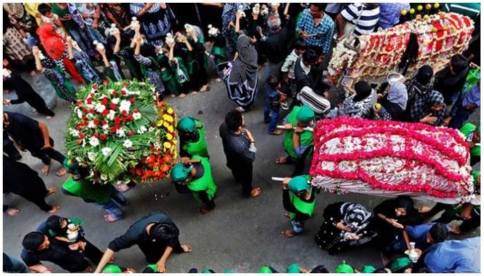 Picture showing a Muharram procession — Reuters/File