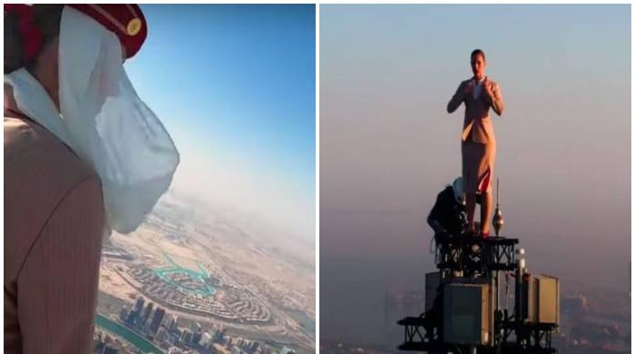 Emirates' 'top of the world' ad shoot: behind the scenes footage
