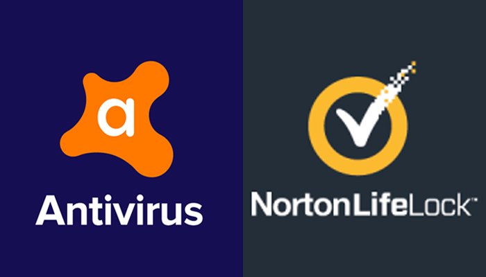The logos of Avast (left) NortonLifeLock (right). — Linkedin/Twitter/File