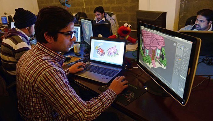 At the global level, Pakistan is host to the third-largest number of freelancers working on the most popular web platforms for contractual jobs. Photo: AFP