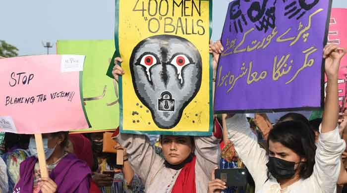 Minar-e-Pakistan incident: Demonstration held at Greater Iqbal Park to protest violence against women
