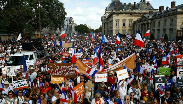 160,000 protest in France against Covid rules
