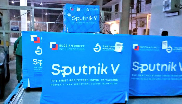 A consignment of Russian made Sputnik V COVID-19 vaccine, purchased by the National Disaster Management Authority, has arrived in Islamabad. Photo: Courtesy Radio Pakistan