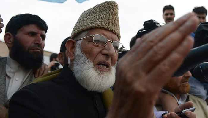 Chairman of All Parties Hurriyat Conference Syed Ali Shah Geelani. — AFP/File