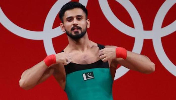 National weightlifting champion Talha Talib. Photo: File