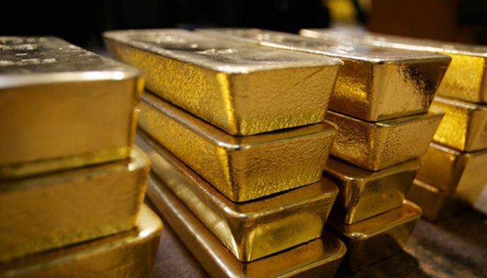 International gold prices fell by $12 per ounce to $1,812 on Tuesday. — Reuters/File