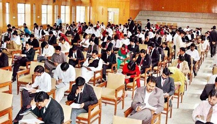 A file photo of candidates taking their exam.