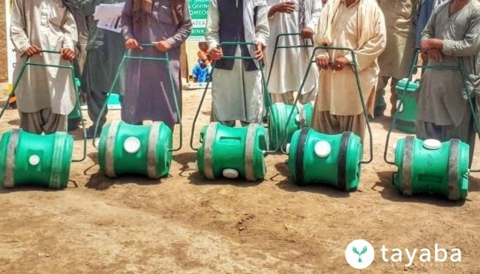 The H20 Wheel, one of the interventions the Tayaba organisation has introduced for improving water accessibility. Courtesy: Twitter/@H2oTayaba