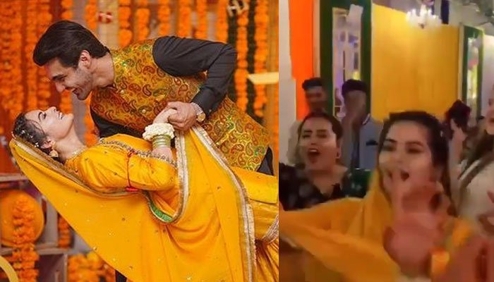 #MinalAhsan: Minal Khan dances on mayun like theres no tomorrow