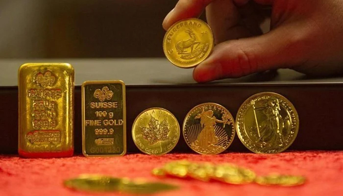 The international gold price fell by $5 per ounce to $1,795 on Thursday. — AFP/File