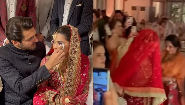 Watch: Minal Khan, Ahsan Mohsin Ikram have officially tied the knot!