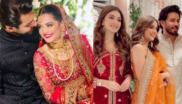 Watch: Inside Minal Khan, Ahsan Mohsin Ikrams star-studded wedding