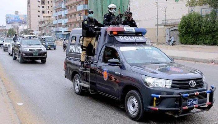 A file photo of the Karachi police.