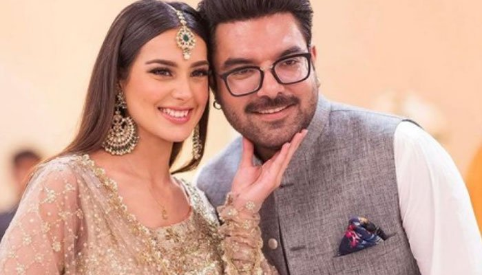 Yasir Hussain, Iqra Aziz exude couple goals at Minal Khans wedding