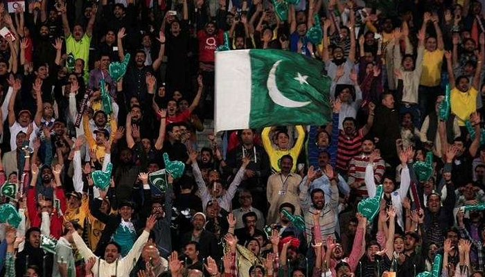 Pakistani spectators cheer during a hugely anticipated final of its domestic cricket league, Pakistan Super League (PSL) at the Gaddafi Cricket Stadium in Lahore, Pakistan, March 5, 2017. — Reuters/File