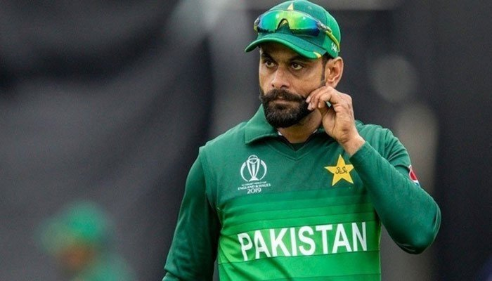Veteran all-rounder Mohammad Hafeez during an ICC Cricket World Cup 2019 match. — AFP/File