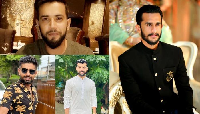 Clockwise: Imad Wasim, Hassan Ali, Shadab Khan, Babar Azam. Courtesy: Instagram. (@imadwasim, @ha55an_ali, @shadab0800, @babarazam).