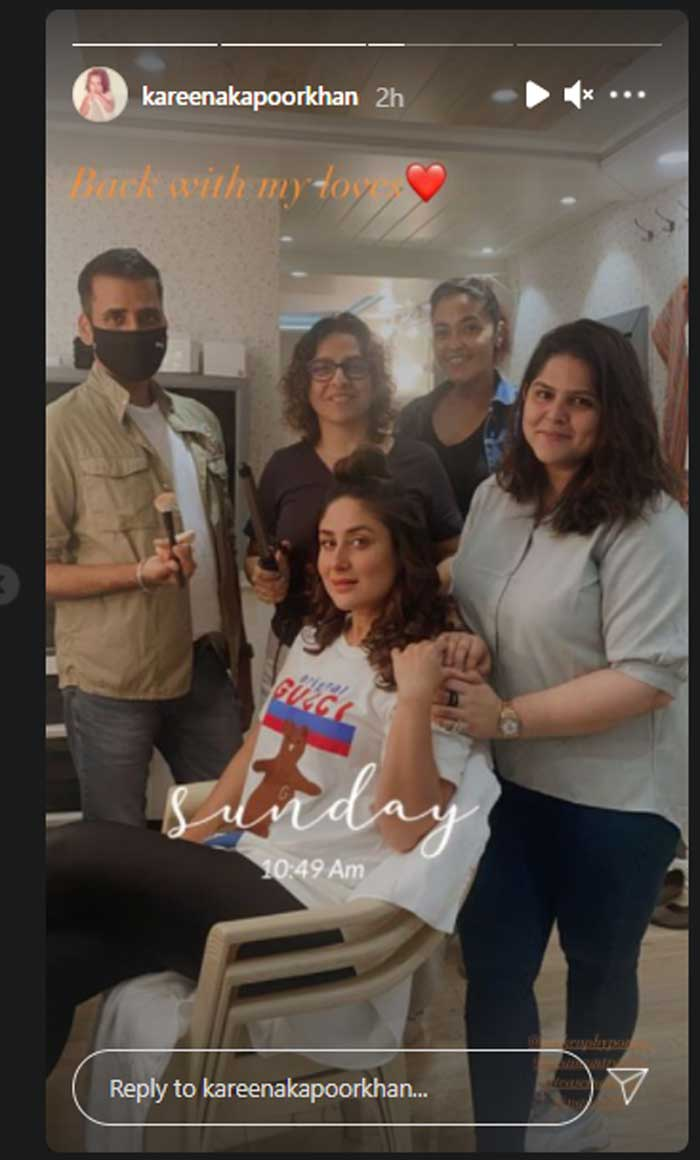 Kareena Kapoor returns to work seven months after birth of son Jeh