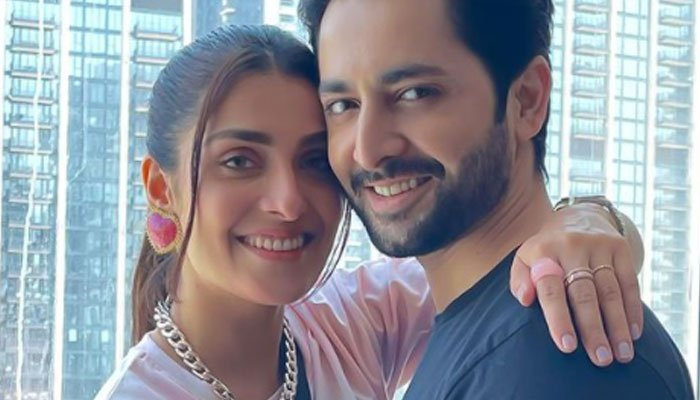 Ayeza Khan, Danish Taimoor paint the town red with their love: See Photos