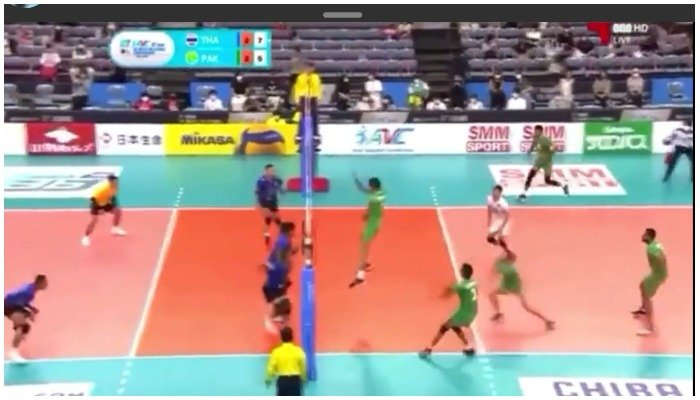Pakistan bagged the win at 3-2 against Thailand by winning the final set at a score of 15-12.