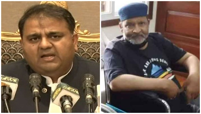 Dr Faisal Sultan consulting with Umer Sharifs medical team: Fawad Chaudhry