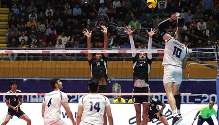Iran thrashes Pakistan by 3-0 in Asian Volleyball Championship. Photo: file
