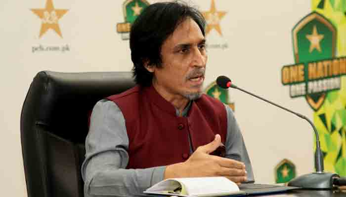 PCB Chairman Ramiz Raja. -PCB