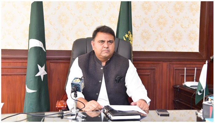 Fawad Chaudhry briefs media about decisions made inFederal Cabinet meeting. — PID