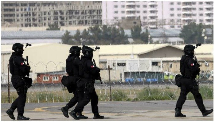 Qatari special forces arrive at Kabul airport where the Gulf emirate has been supporting operations. Photo AFP