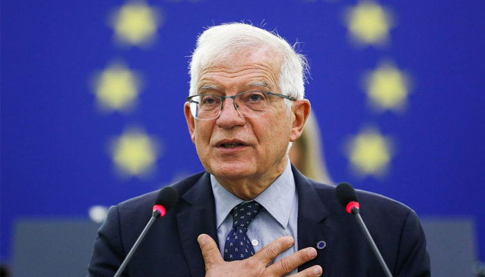 EU Foreign Policy Chief Josep Borrell delivers a speech on the situation in Afghanistan during a plenary session at the European Parliament in Strasbourg, France, September 14, 2021. — Reuters