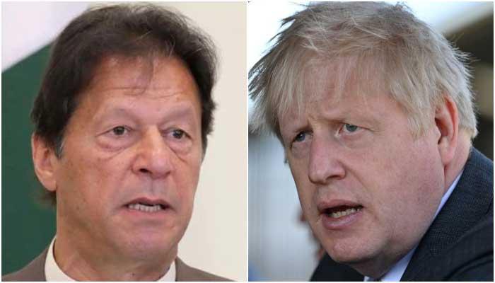 Prime Minister Imran Khan (L) and British Prime Minister Boris Johnson. — Reuters/File