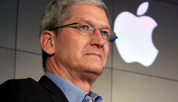 Apple CEO Tim Cook unveils some features of the new iPhone. File Photo.