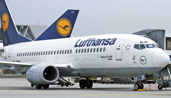German airline Lufthansa is keen on resuming its flight operations to Pakistan. Photo: file