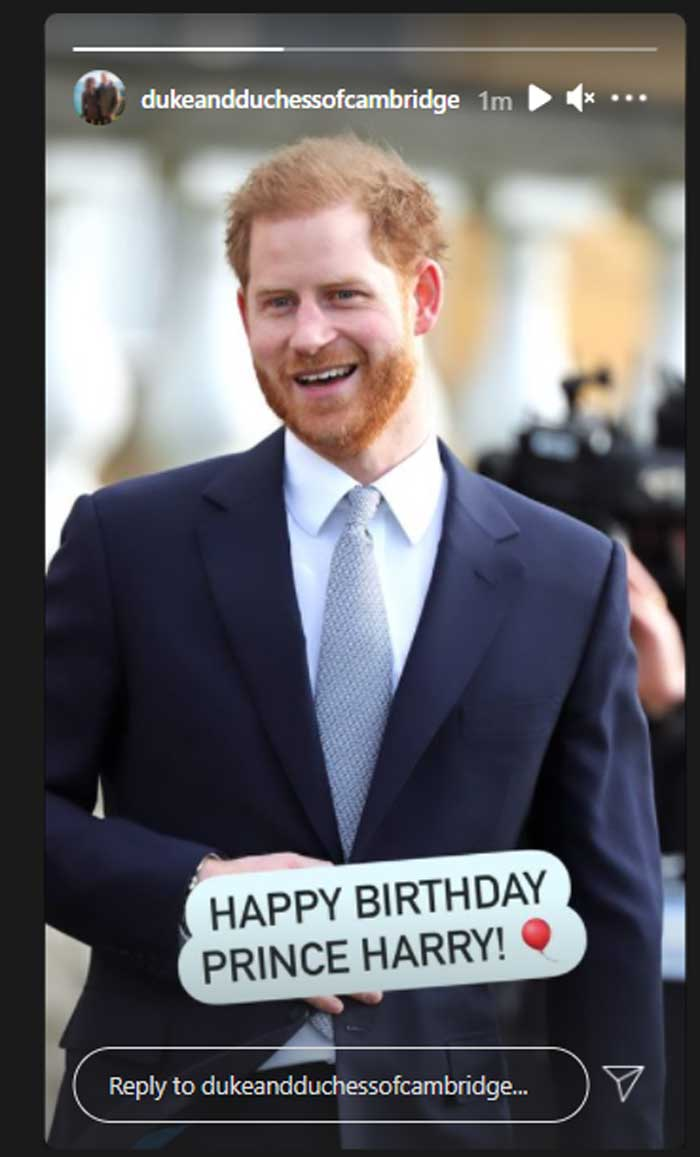 Prince Harry receives love from Kate Middleton, Prince William on his birthday