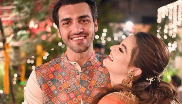 Watch: Ahsan Mohsin Ikram, Minal Khan kill it at the dance floor in video from Dholki