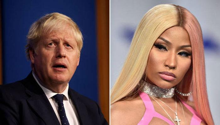 Nicki Minaj sparks feud with England PM Borris Johnson over Covid-19 shot