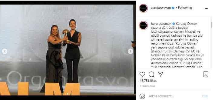 Kurulus: Osman: Burak Ozçivit wins Male Actor of the Year award