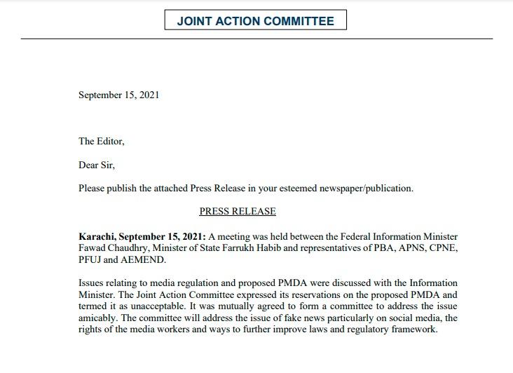 PMDA unacceptable, media bodies tell information minister