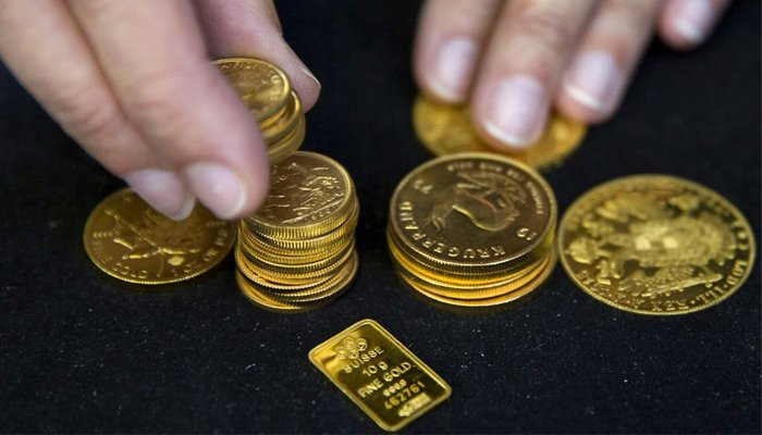 International gold prices fall by $24 per ounce to $1,779. — Reuters