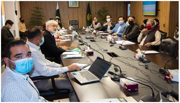 Asad Umar emphasised on completion of the HEC projects at the earliest. PhotoMoPD&SI