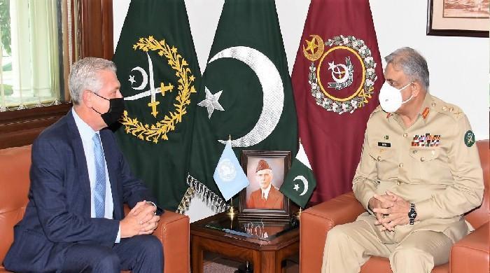 COAS Gen Bajwa meets UNHCR Filippo Grandi