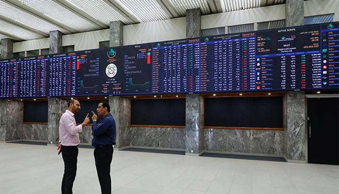 Traders are standing in the main hall of Pakistan Stock Exchange in Karachi. — Reuters/File
