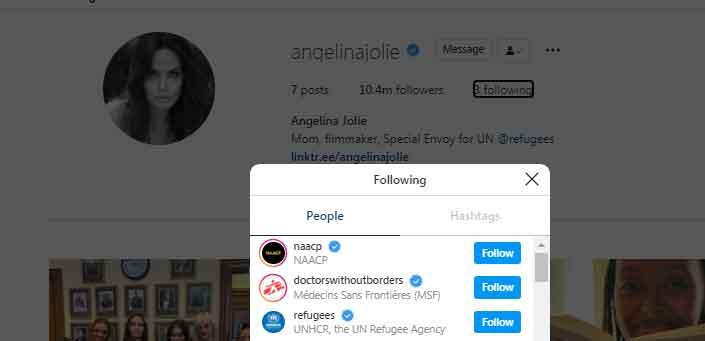 Angelina Jolie follows only three accounts as she reaches 1.4 million Instagram followers