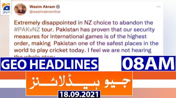 Geo Headlines 08 AM | 18th September 2021