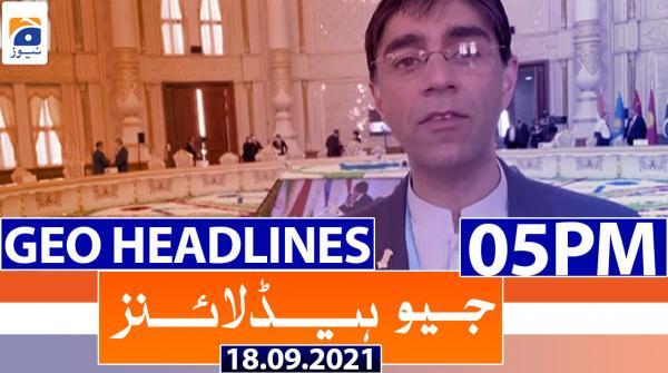 Geo Headlines 05 PM | 18th September 2021