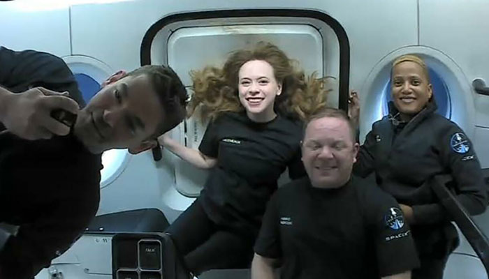 Inspiration4 space tourists are set to return to Earth after three days in orbit. AFP
